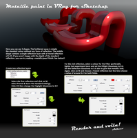 Metallic Paint in VRay for Sketchup Tutorial by aconnoll