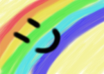 Pink fluffy unicorns dancing on rainbows by catiewith