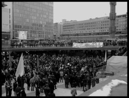 Demonstration in Sergels Torg by NACrnko