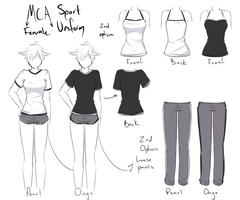 [MCA] Female Sports Uniform by NotLucy