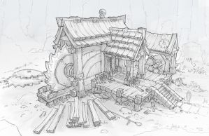 Fantasy Lumbermill by wwsketch
