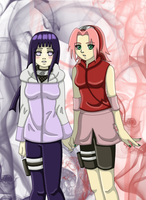 Hinata and Sakura by ArisuAmyFan