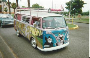 Pink Panther VW van by Mister-Lou