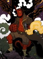 Hellboy (Anung Un Rama) by cheshirecatart