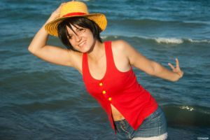 Luffy D.Monkey gender bender cosplay by XiXiXion
