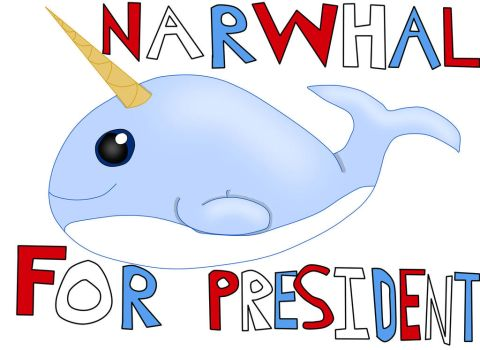 Narwhal for President by vampireknight16