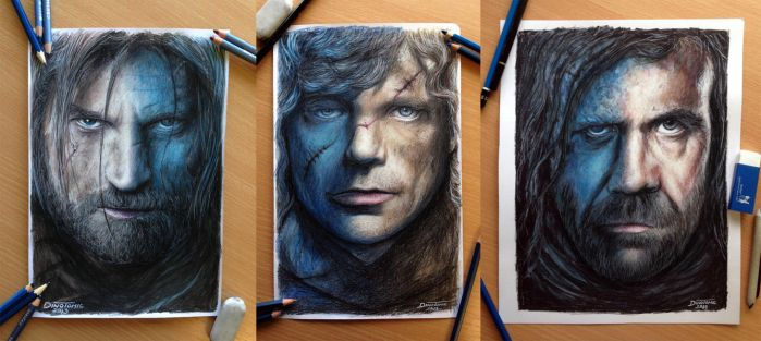 My Game of Thrones Portraits by AtomiccircuS