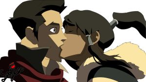 makorra kiss - vector colored by princessxsofia
