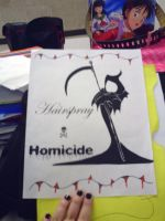 Hairspray and Homicide by poison-is-my-koolaid