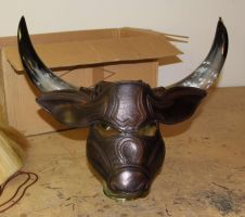 Minotaur Mask 2 by Azmal