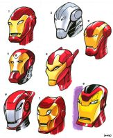 Iron Man Heads 1 by D-MAC