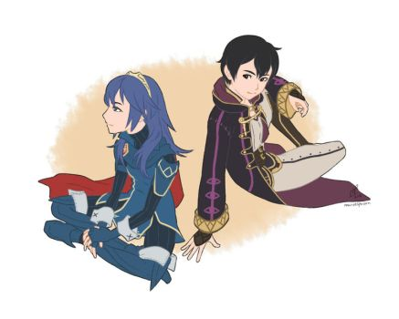 Lucina and Morgan by MarvelPoison