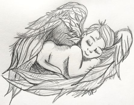 Angel Baby Sketch by zenren