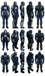Mass Effect 2, Male Blue Suns Mercenary Reference by Troodon80