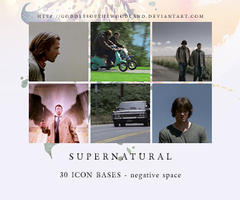 Supernatural icon bases - negative space by Goddessofthewoodland