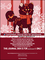 Commission Journal Skin for Spirithowls by BrightenYourSmile