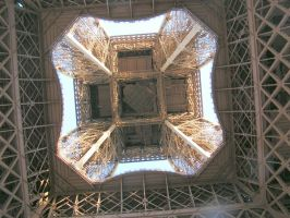 Under the Eiffel Tower by kfjg