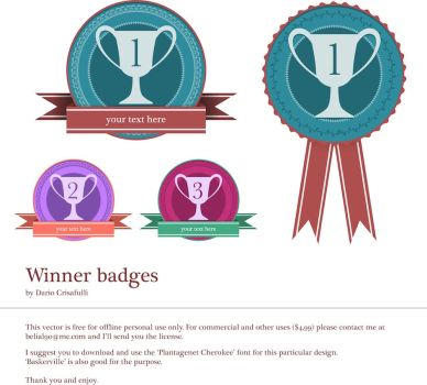 winner badges - vector art by Dario1crisafulli