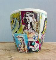 flower pots Picasso by naraosart