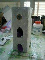 spooky tower paper model by Paiolomagicoshop