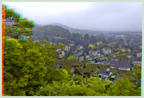 Foggy Blankenburg in the Harz Mountains 3D by zour
