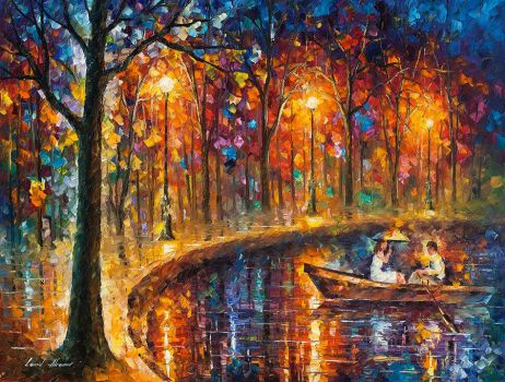 Our Little Boat by Leonid Afremov by Leonidafremov