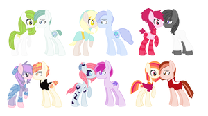 2 point pony adopts by TheOnlyRedRuby