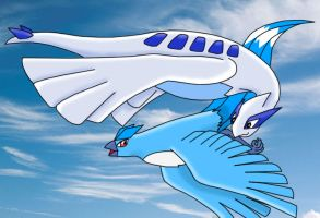 Flying Birdies by Articuno