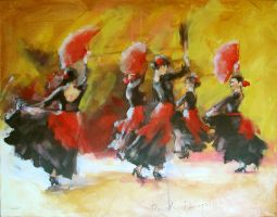 FLAMENCO DANCERS 2 by renatadomagalska