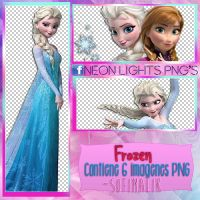Frozen - Neon Lights PNG'S by SoffMalik