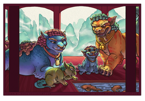 Foo Dog Family - Collab by kohu-arts
