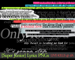 -Super Junior-- Lyrics PNGs by LIVE-KILLS