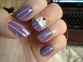 Cupcake nails by Rainbow112
