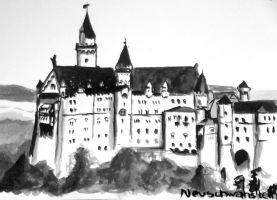 Castle Neuschwanstein by Jill92