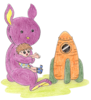 Big bunny and baby by madna29