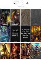 2014 Art Summary by RizyuKaizen