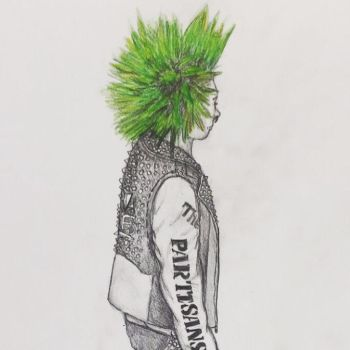 Green Haired Punx by dumpster-child