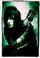 Andy Biersack the Ghostly Green Glow by rainrivermusic
