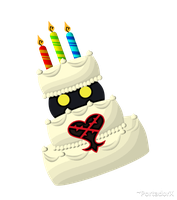 the B-Day Cake Heartless by portadorX