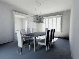 Sneak Peek: WIP - Modern Baroque Dining Room by 13-year-old