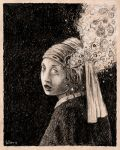 The Girl with the Pearl Head wound by offermoord
