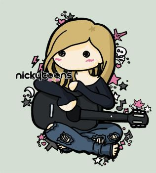 Avril Lavigne: Guitar by NickyToons