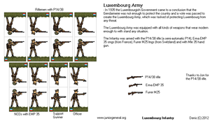 Luxembourg Infantry by PolishTrooper