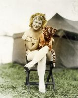 Blonde Lady with Tiger** by Thelema001