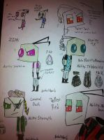 Tallest Red, Zim, and OCs Dash, Xavier, and Twist by InvaderAllieNinja