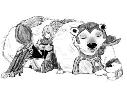 LoL: Ashe and Volibear by Beautiful-Dreamer602