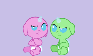 MLP Base: Unamused Babies by Suzzykitty