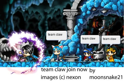 team claw poster by moonsnake21