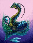 Water Dragon by kuraiaku