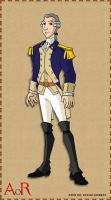 Lafayette in Cont. Uniform by AragornofRedwall